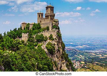 Rocca della Guaita, the most ancient fortress of San Marino,...