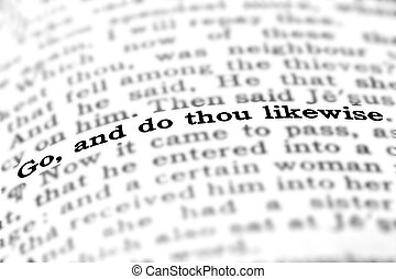 Scripture Quote Go and Do