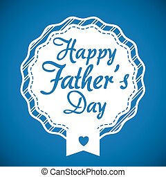 Happy fathers day card design - Happy fathers day card...