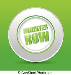 Register now design - Register now design over green...