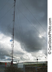 Radio Mast on Hillside