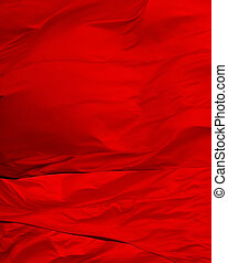 Bright, shiny and colorful red flag abstract background
