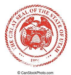 Utah Seal Rubber Stamp