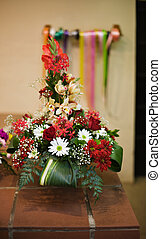 Flower arrangement - A big bunch of mixed natural flowers...