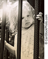 frightened little girl