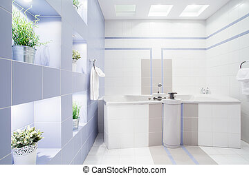 Modern bathroom - Spacious modern bathroom with enormous...