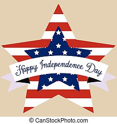 Happy independence day - Colored background with elements...