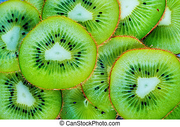 fresh kiwi, sliced of fresh kiwi, kiwi background