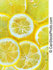 lemon - fresh lemon, background from lemon, sliced of lemon