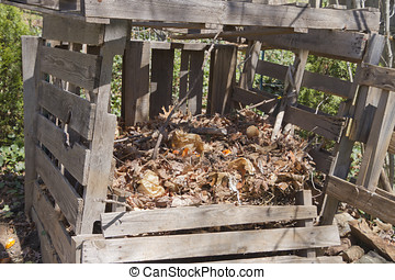 Home Made Compost Bin - A rickety, home made compost bin...