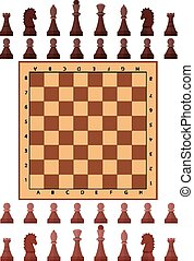 Chess playing figure pawn castle queen bishop king Eps10...