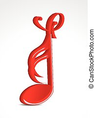 abstract embossed musical word