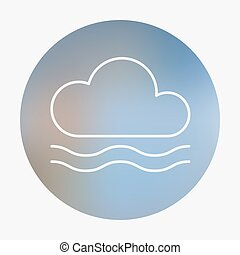 Weather flat style icon. - Weather flat style icon with fog....