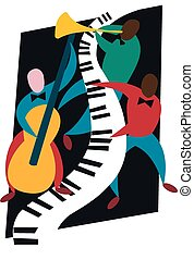 Jazz trio - A colourful combination of pianist, bassist and...