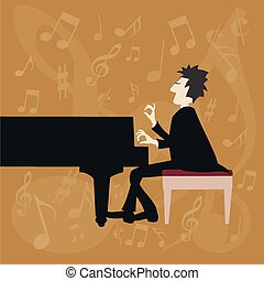 Piano passion - An concert pianist playing a concerto...