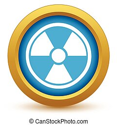 Gold nuclear icon