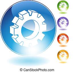 cog crystal icon