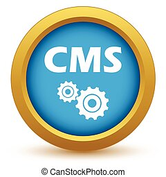 Gold cms icon on a white background Vector illustration