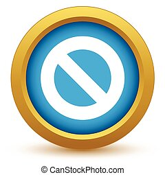 Gold sign ban icon
