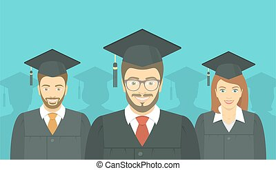 Young people graduated
