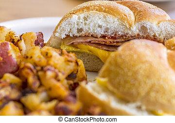 Taylor Ham Egg Cheese - Taylor ham, pork roll, egg and...