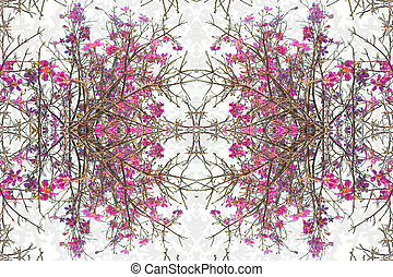 Floral Decorative Collage Design - Digital collage technique...