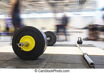 barbell plates - Closeup barbell plates isolated on a white...