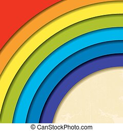 Abstract retro rainbow background.
