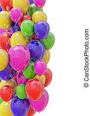 Balloons - Coloured balloons isolated on white.