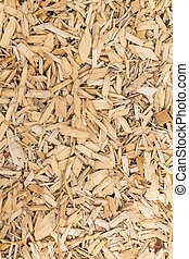 background - coarse wood chips