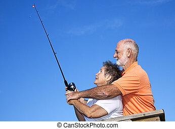Seniors Fishing - Casting Lesson