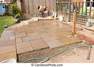 Building a natural stone patio
