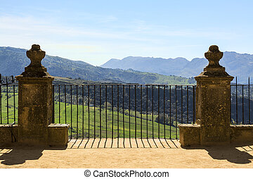 Ronda, Spain - Scenic View of Valley in Ronda, Spain