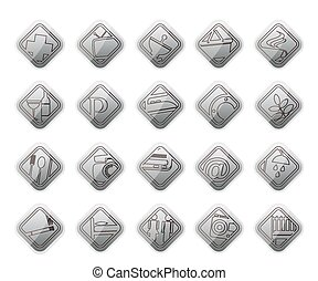 Hotel and Motel objects - Realistic Vector Icon set