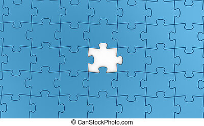 Piece FOR puzzle - Jigsaw puzzle concept