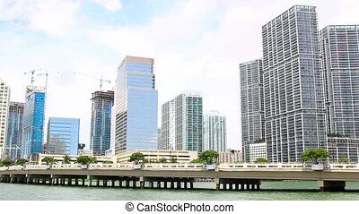 Miami,Florida skyline from Brickell Key USA
