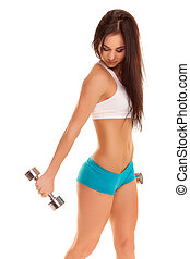 Young Woman Fitness Trainer