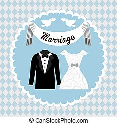 wedding card design, vector illustration eps10 graphic