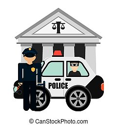 police man design, vector illustration eps10 graphic