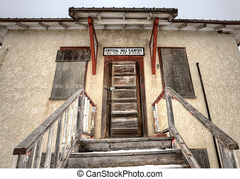 Abandoned School House one room Canada Saskatchewan