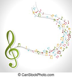 Music design. - Music design over white background, vector...