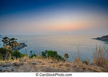 Promthep Cape in Phuket - Sunset at Promthep Cape in Phuket,...