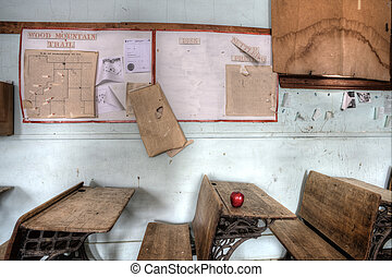 Abandoned School House red apple - Abandoned School House...