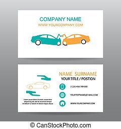 Business card vector background,Insurance emergency