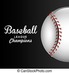 Baseball design. - Baseball design over black background,...