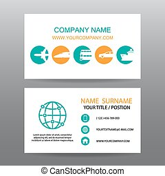 Business card vector background,tour companies