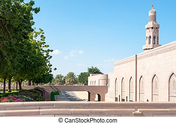 Courtyard of Sultan Qaboos Mosque, Muscat, Oman