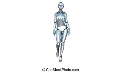 walking robot - walking female robot
