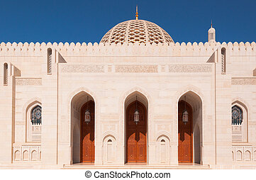 Sultan Qaboos mosque, entrance to prayer hall, Muscat, Oman