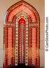 Red Islamic architecture, Muscat, Oman